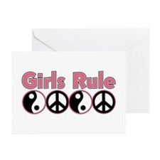 Girls Rule Greeting Cards (Pk of 10)