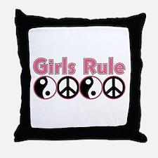 Girls Rule Throw Pillow