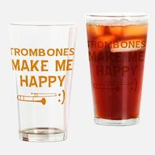 My Trombone makes me happy Drinking Glass