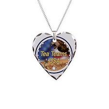 Tea Teams USA Necklace Heart Charm