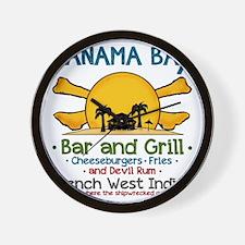 Panama Bax Bar and Grill 2 Wall Clock