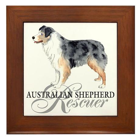 Aussie rescue Framed Tile