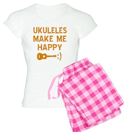 My Ukukele makes me happy Women's Light Pajamas