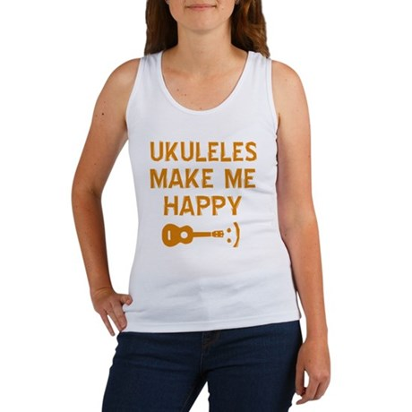 My Ukukele makes me happy Women's Tank Top