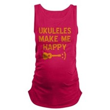 My Ukukele makes me happy Maternity Tank Top