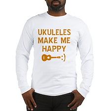 My Ukukele makes me happy Long Sleeve T-Shirt