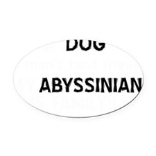 Abyssinian cat designs Oval Car Magnet