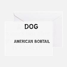 American Bobtail cat designs Greeting Card
