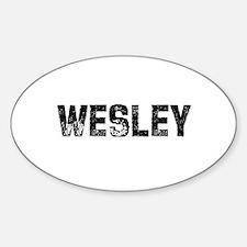 Wesley Oval Decal