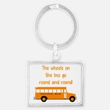 the wheels on the bus Landscape Keychain
