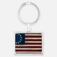 American Flag Landscape Keychain