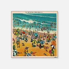 "Vintage Virginia Beach Post Square Sticker 3"" x 3"""
