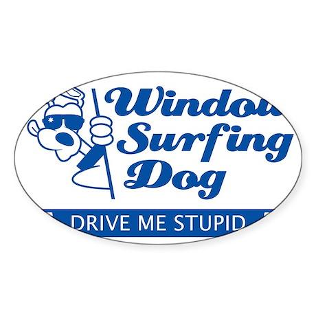 WinSurf_dog_5 Sticker (Oval)