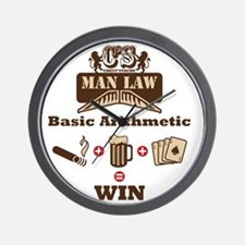 Cheststache Man Law t-shirt Wall Clock