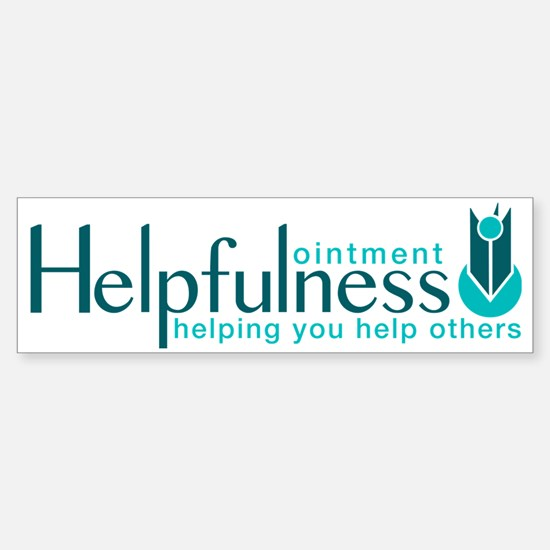 Helpfulness Ointment Sticker (Bumper)