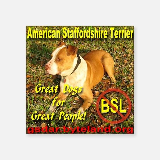 """American Staffordshire Terr Square Sticker 3"""" x 3"""""""
