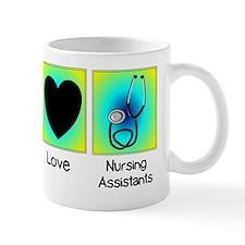 peace love nursing assistants 2 Mug