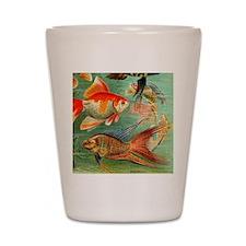 Vintage Colorful Tropical Fish Shot Glass