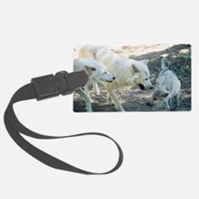 """A Wolf Family"" Luggage Tag"
