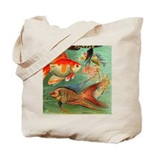 Vintage Colorful Tropical Fish Tote Bag