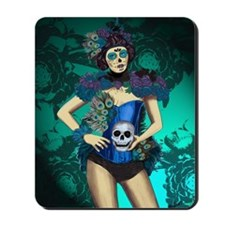 Peacock - dia de los muertos Pin-up Mousepad