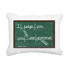 I judge you when you use Rectangular Canvas Pillow