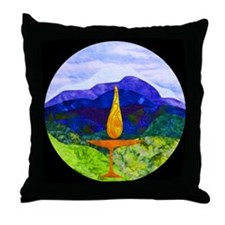 Mountains Chalice Cir Throw Pillow