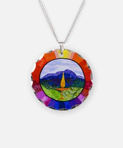 HPCUU Mountains Quilt Necklace