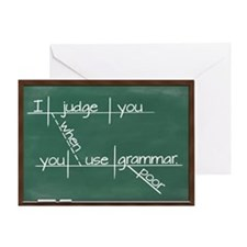 I judge you when you use poor gramma Greeting Card