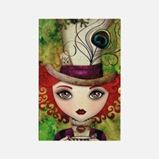 Lady Hatter Rectangle Magnet