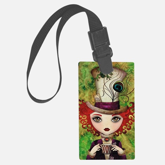 Lady Hatter Luggage Tag