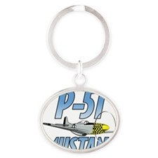 P-51 Mustang Oval Keychain