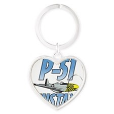 P-51 Mustang Heart Keychain