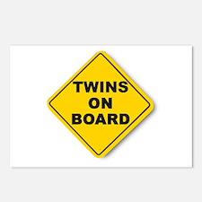 Twins on board Postcards (8)