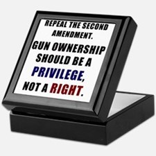 Repeal the second amendment 2 Keepsake Box