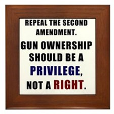 Repeal the second amendment 2 Framed Tile