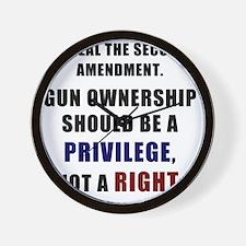 Repeal the second amendment 2 Wall Clock