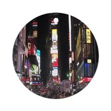 Times Square Round Ornament