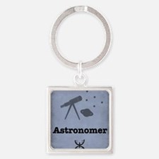Astronomer Square Keychain