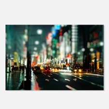 New york street at night Postcards (Package of 8)