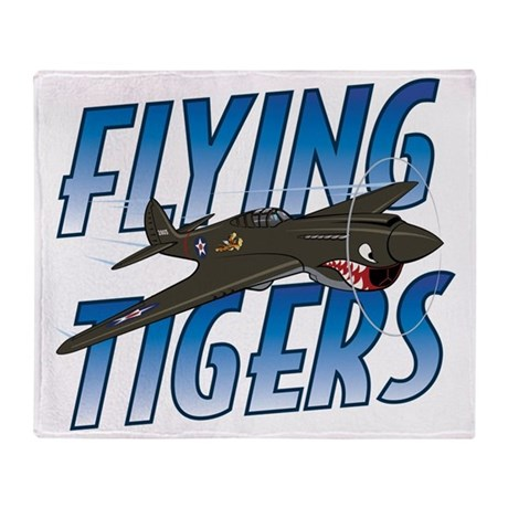 flying tigers throw blanket by admin cp128527