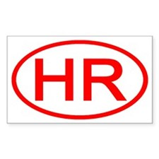 HR Oval (Red) Rectangle Decal