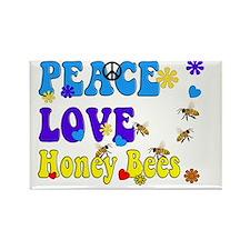 peace love honeybees 2 Rectangle Magnet