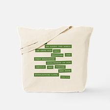 John 3:16 - Classic Green Tote Bag