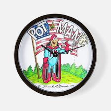PotMan united T-shirt Wall Clock