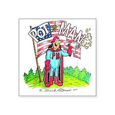 """PotMan united T-shirt Square Sticker 3"""" x 3"""""""