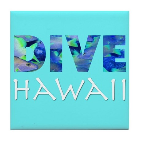 Dive Hawaii Tile Coaster