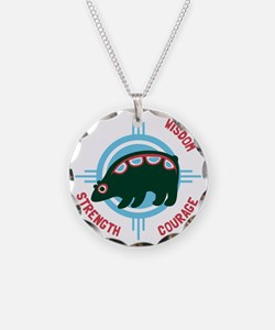 Bear Traits Necklace Circle Charm