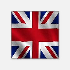 "British Flag Square Sticker 3"" x 3"""