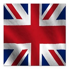"British Flag Square Car Magnet 3"" x 3"""